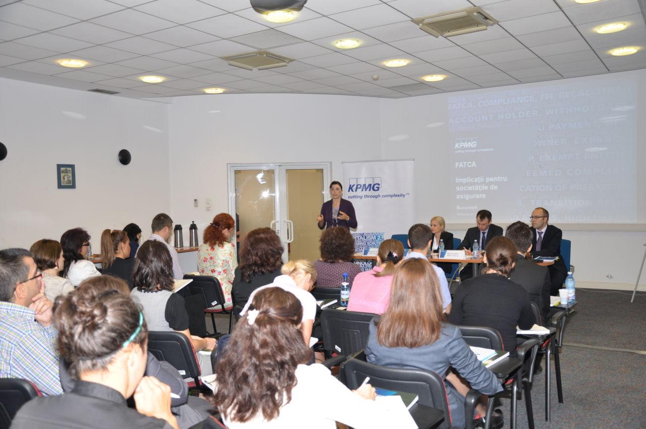 """Seminar KPMG – """"Implicatiile regimului FATCA pentru societatile de asigurare din Romania"""""""