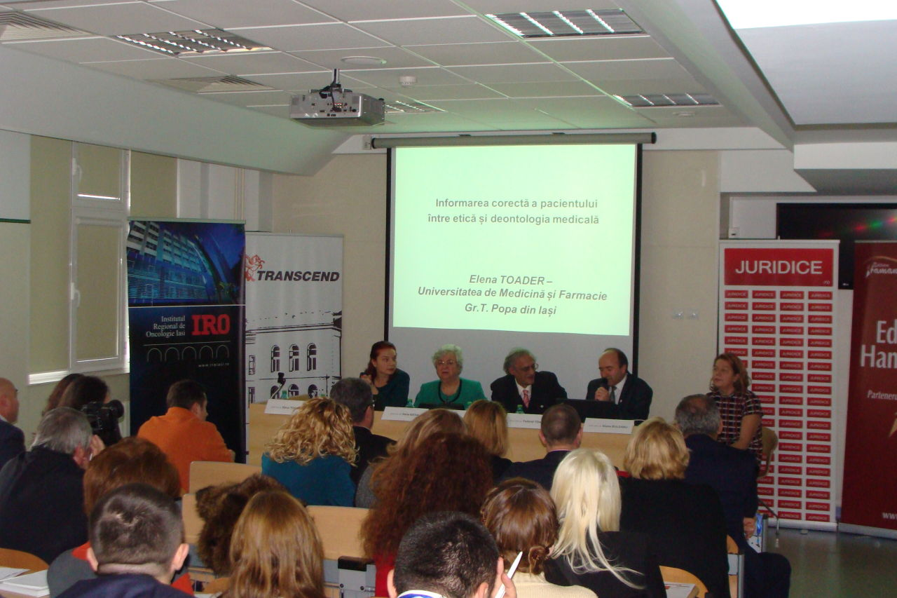 """UNSAR a fost reprezentata in cadrul conferintei """"Malpraxis Medical – Raspunderea civila si penala a personalului medical"""""""